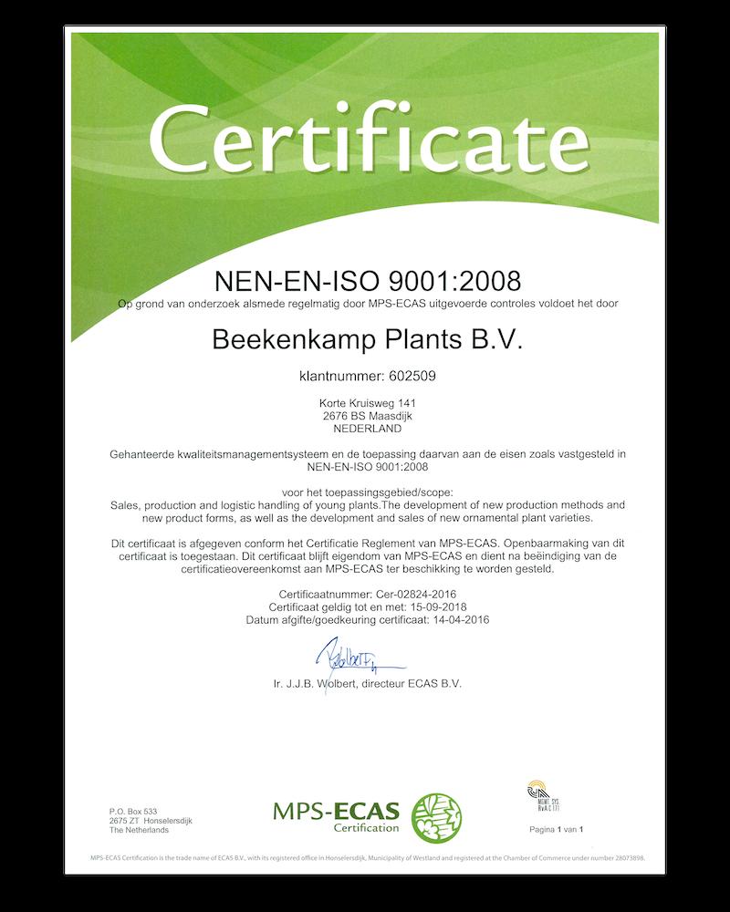 NEN-EN- ISO 9001:2008