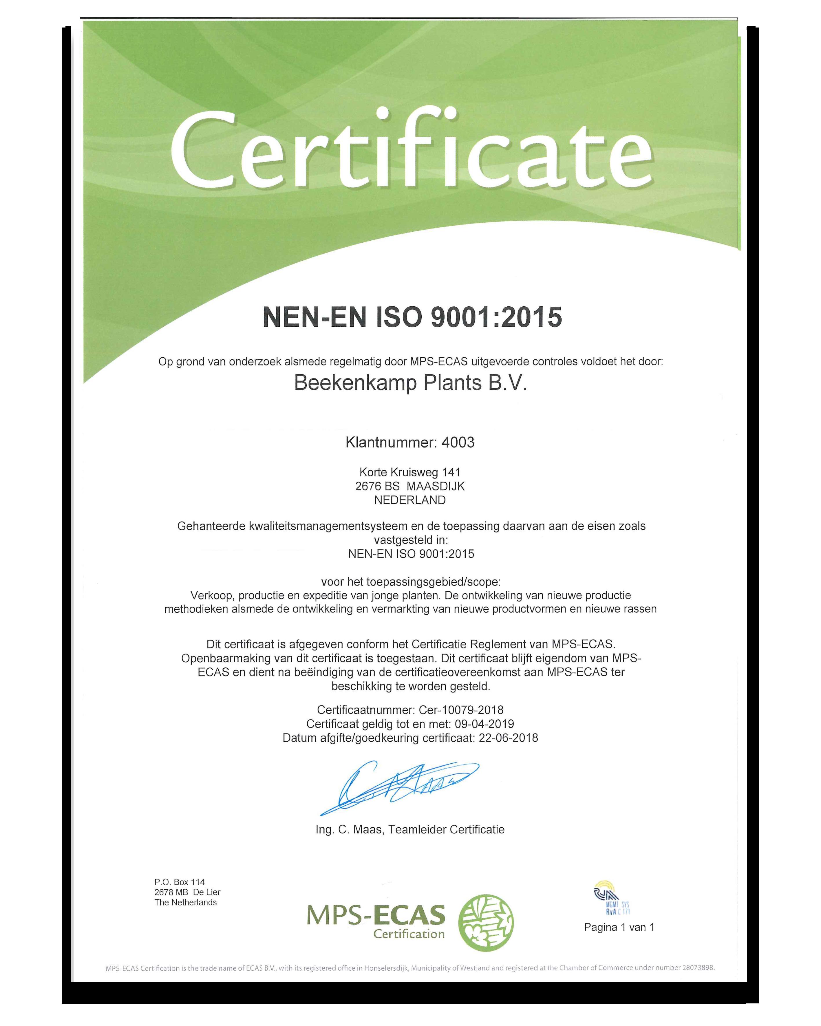 NEN-EN- ISO 9001:2015