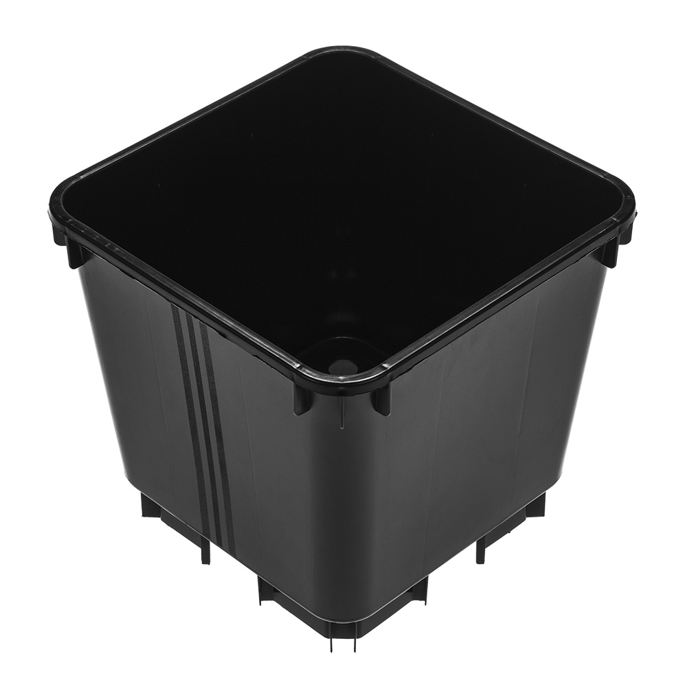 4.7 Litre Square Pot Black Standard