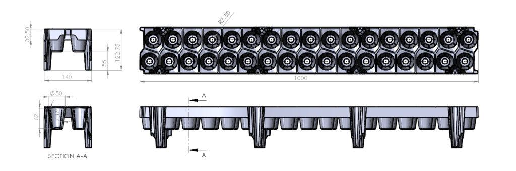7534 - tray 34 85cc